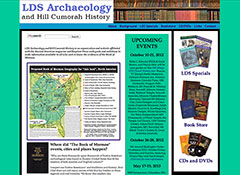 LDS Archaeology and Hill Cumorah History site