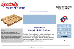 Specialty Pallet and Crate website 1st gen