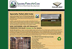 Specialty Pallet and Crate website