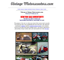 Vintage Motor Scooters logo and website
